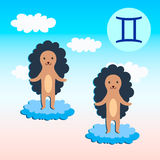 Zodiac sign  Gemini. Stock Photo