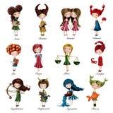 Zodiac sign girls Stock Photos
