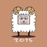 Zodiac Sign Goat  Cartoon Character Stock Image