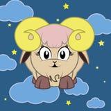 Zodiac Sign Goat  Cartoon Character Stock Photos