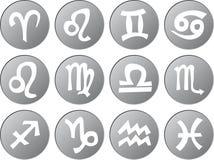 Zodiac sign icons royalty free illustration