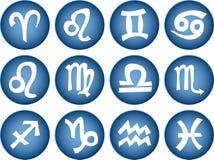 Zodiac sign icons stock illustration