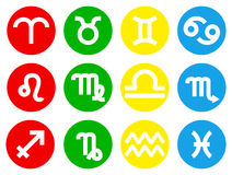 Zodiac sign icons Stock Image