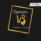 Zodiac sign illustration. Capricorn icon royalty free illustration