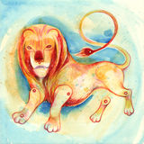Zodiac sign Leo. Series of 12 signs of the zodiac, zodiac animals royalty free illustration