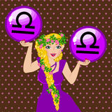 Zodiac sign Libra Royalty Free Stock Image