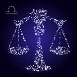 Zodiac sign of libra made of stars. Use this vector illustration for design your website or publications Stock Photos