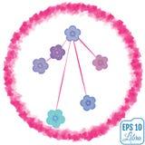 Zodiac sign Libra. Primula concept. Flowers concept. Constellati Royalty Free Stock Photography