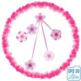 Zodiac sign Libra. Sakura concept. Flowers concept. Constellatio Royalty Free Stock Photos
