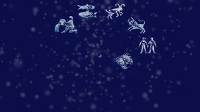 Zodiac. Sign on night sky vector illustration