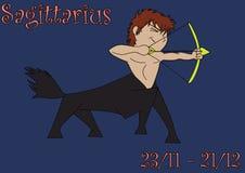 Free Zodiac Sign Of Sagittarius In A Cartoon Version Stock Photos - 6605563