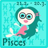 Zodiac Sign - Pisces Royalty Free Stock Images