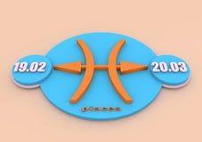 Zodiac sign Pisces Royalty Free Stock Photos