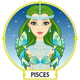 Zodiac sign Pisces. Royalty Free Stock Images