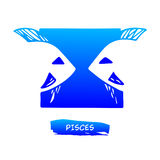 Zodiac sign Pisces vector Stock Image