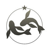 Zodiac Sign. Pisces. Vector Illustration Stock Photo