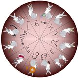 Zodiac sign rabbit Stock Photo