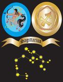 Zodiac sign Sagittarius Stock Photos