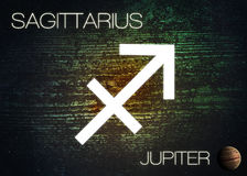 Zodiac sign - Sagittarius. Elements of this image furnished by NASA Royalty Free Stock Photos