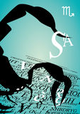 Zodiac sign scorpio Stock Images