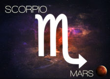 Zodiac sign - Scorpio. Elements of this image furnished by NASA Royalty Free Stock Photos