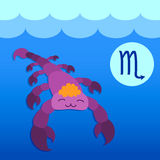 Zodiac sign Scorpio. The picture of the zodiac sign of Scorpio Royalty Free Stock Image