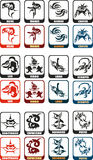 Zodiac Sign Set Royalty Free Stock Photography