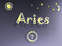 Zodiac sign  with stars Royalty Free Stock Photos