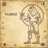 Zodiac sign Taurus. Stock Photos