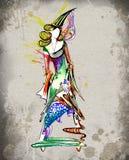 Zodiac sign of Virgo as a beautiful girls vector illustration