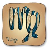 Zodiac sign - Virgo. Doodle hand-drawn style Stock Image