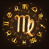 Zodiac sign Virgo Royalty Free Stock Photography