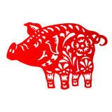 Zodiac Sign for Year of Pig Royalty Free Stock Photography