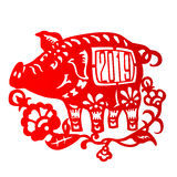 Zodiac Sign for Year of Pig Stock Photo