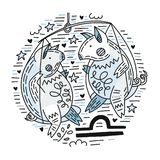 Zodiac Signes Libra απεικόνιση αποθεμάτων