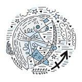 Zodiac Signes Sagittarius vector illustration