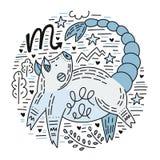 Zodiac Signes Scorpio royalty free illustration