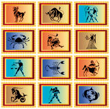 Zodiac signs. Signs of zodiac, icon, symbol Stock Photography