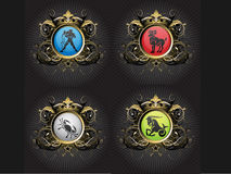 Zodiac Signs. Zodiac sign icons good for tshirt graphics, buttons pins, web and other designs Stock Photography