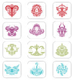 Zodiac Signs. A set of 12 zodiac signs royalty free illustration