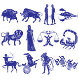 Zodiac Signs. Set of vector images zodiac signs Royalty Free Stock Photo