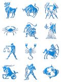Zodiac signs stock image