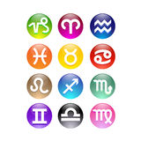 Zodiac Signs. 12 vector colorful Zodiac Signs Royalty Free Stock Images