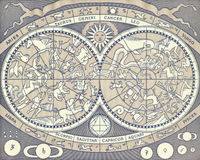 Zodiac Signs. On 2000 Lire 1983 banknote from Italy royalty free stock images