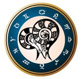 Zodiac Signs - Aries Stock Image