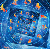 Zodiac signs. Artistic astrology illustration with zodiac signs Royalty Free Stock Photos