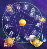 Zodiac signs,background Stock Images