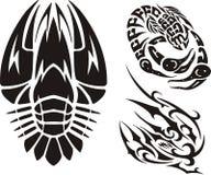 Zodiac Signs - cancer. Vinyl-ready vector set. Royalty Free Stock Photos