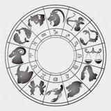 Zodiac signs on canvas Stock Photos