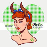 Zodiac signs - Capricorn Royalty Free Stock Images